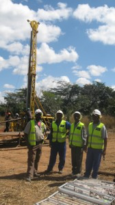 Supervision of a diamond drilling program