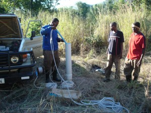 Collecting groundwater for chemical analysis